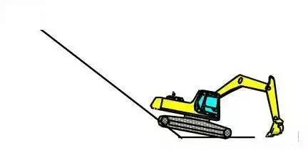 挖掘机下坡作业小窍门